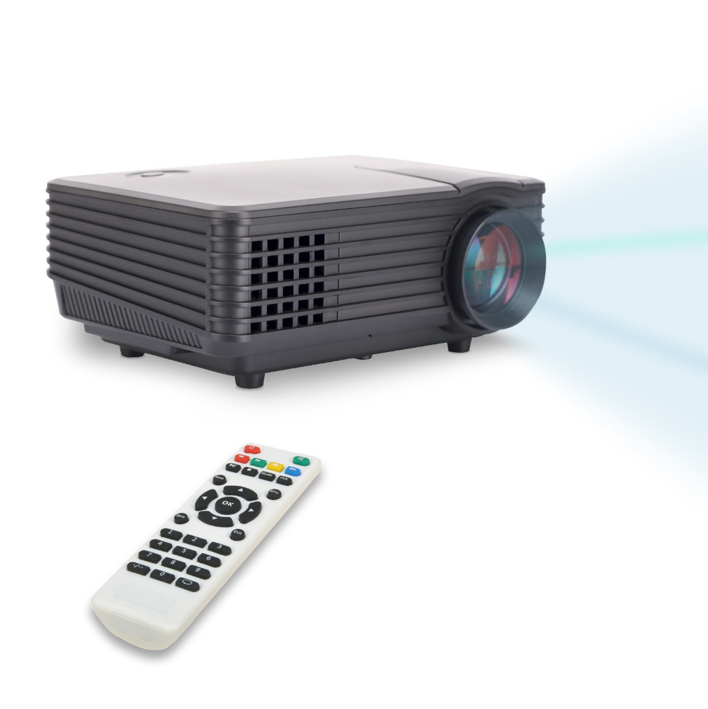 Newest 800 480 portable led mini video lcd projector 3d for Portable video projector