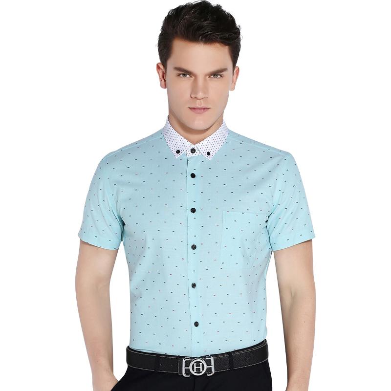 CAIZIYIJIA-Summer-2016-Men-Short-Sleeve-Fish-Bone-Pattern-Casual-Shirts-Contrast-Color-Comfort-Soft-Slim (8)