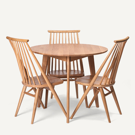 Dodge Scandinavian modern style furniture, solid wood oak dining table fashion small apartment suite table three chairs(China (Mainland))