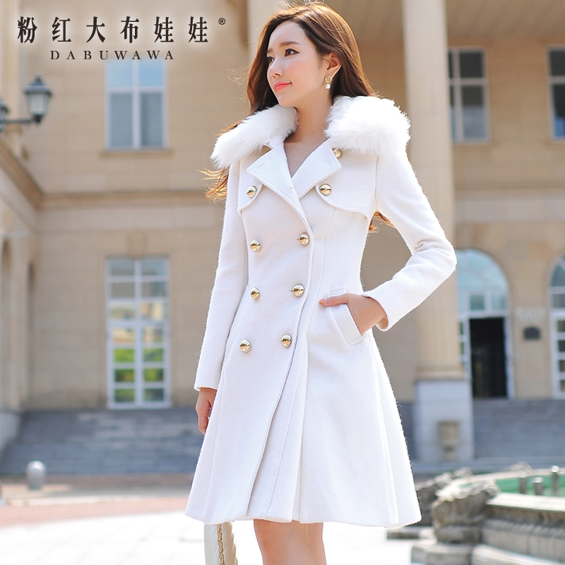 Wool coat female Pink Doll 2015 new winter dress fur collar and put in long coat girlОдежда и ак�е��уары<br><br><br>Aliexpress