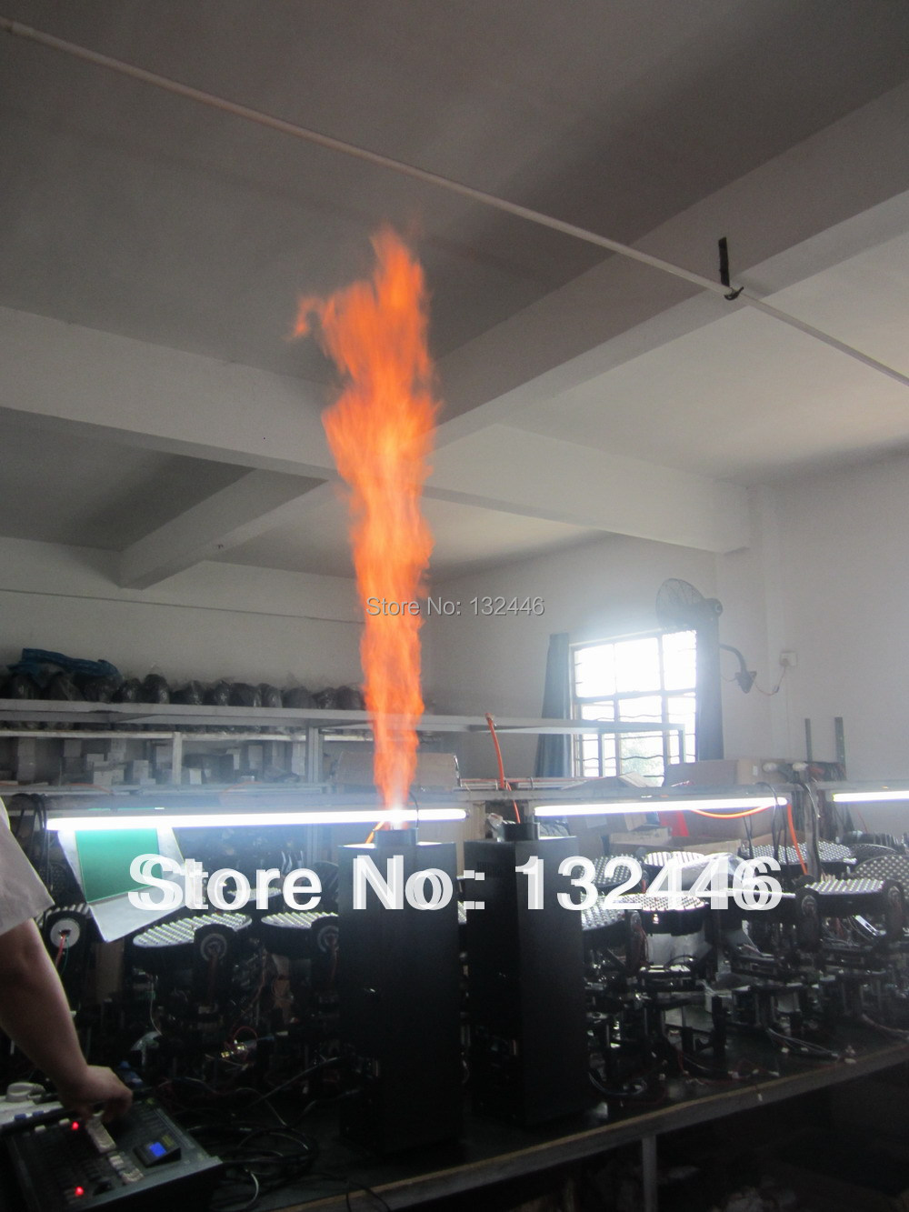 stage dmx flame projector DMX fire machine effect equipment dj  -  BY Stage Lighting store