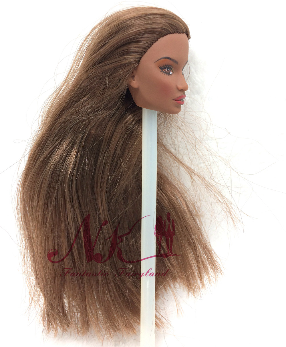 NK One Pcs Authentic FR Doll Head  For FR Dolls 2002 Restricted Version Assortment Black Hair Finest DIY Present For Women'  Doll zero04L