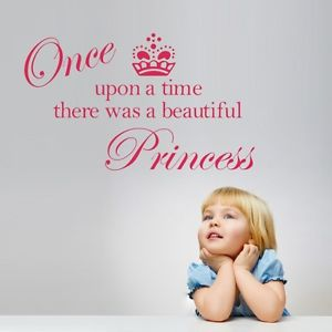 2014 Beautiful Princess Crown Wall Sticker Decals Quote Girls Room Decor Vinyl RD(China (Mainland))