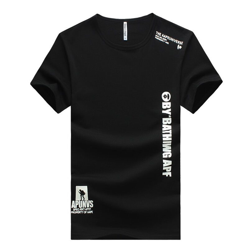 T-Shirt Men Plus Size 6XL Cotton Tops Tee Skull Printed Short Sleeve Cotton T-shirts Men printing Sport Camisetas Brand ClothingОдежда и ак�е��уары<br><br><br>Aliexpress
