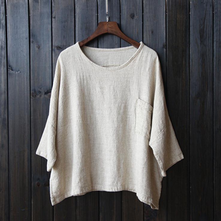 2016 spring women cotton linen shirt original cotton loose for Womens linen shirts blouses