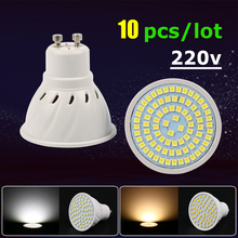 Buy 10pcs/lot gu10 Led Bulb Light SMD 2835 Led Chip Ampoule Gu10 220v Led Lamp Energy Saving Spotlight Bulbs Home Decor Lights for $11.05 in AliExpress store