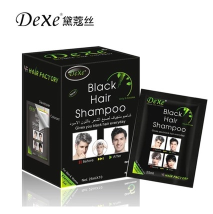 100% New Dexe Fast black hair shampoo Only 5 minutes white become black hair color 5 pcs/lot Grey hair removal for men and women(China (Mainland))