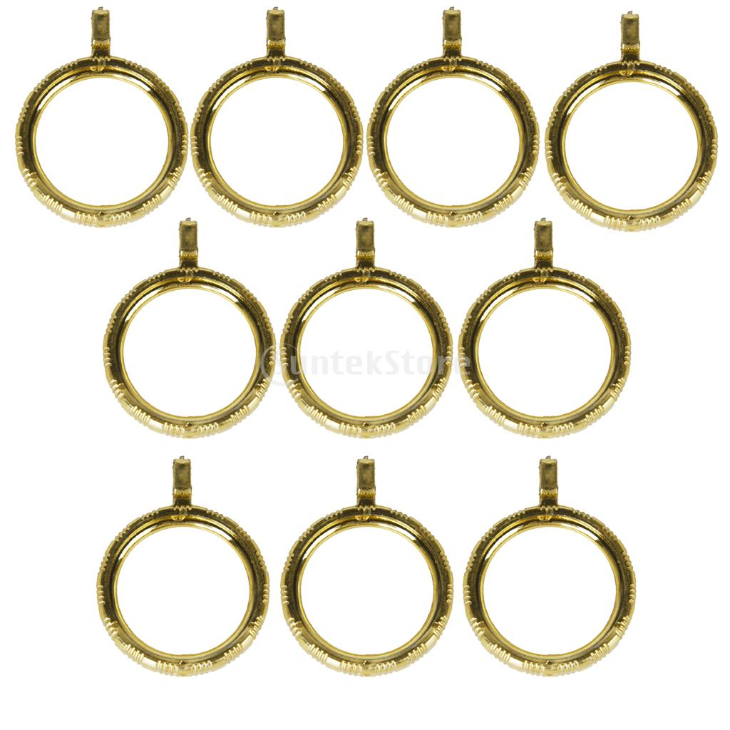 Curtain eyelet rings - 10pcs Curtain Rod Rings With Eyelet Golden Color Free Shipping China Mainland