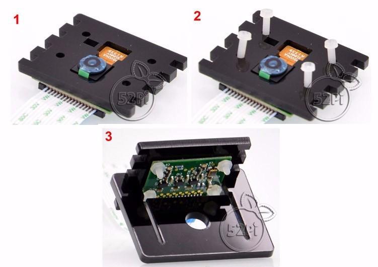 Adjustable Raspberry Pi Camera Mounting Bracket Camera Mount Black Acrylic Camera Bracket Free Shipping