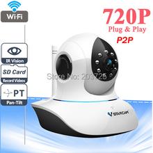 Vstarcam C7838WIP P2P Plug and Play 720P MegaPixel HD Wireless IP Camera with Pan/Tilt SD Card Slot and IR Cut 720p(1280×720)
