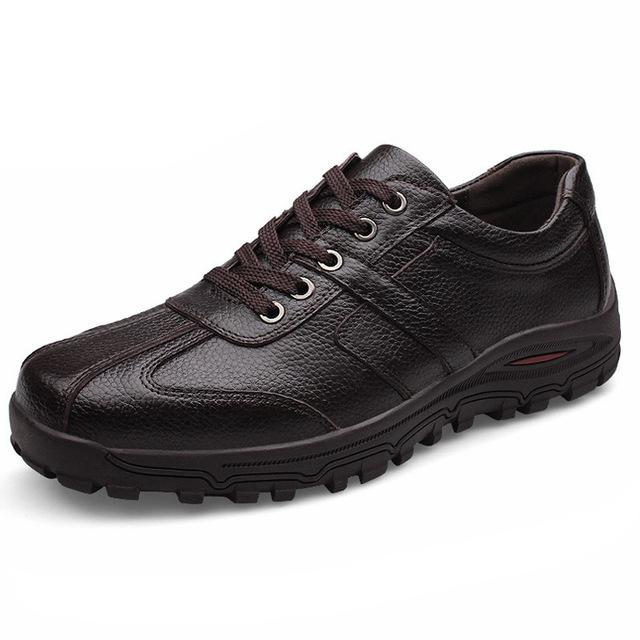 Большой размер Марка Классический мужчины Оксфорд обувь мужская обувь из натуральной ...