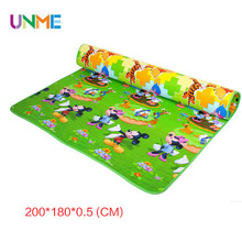 Thickness 0.5 CM New Best Quality Double Side Kids Play Rug Winnie Classic and Mickey Child Carpet Baby Crawling Gym Mat Toys(China (Mainland))