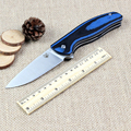 Quality Bear head folding knife D2 blade outdoor tactical knife G10 handle EDC Flipper pocket