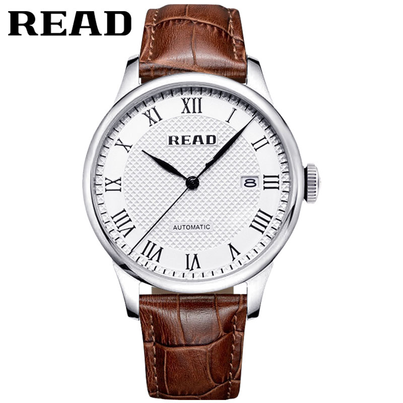 New style READ brand mens Watch genuine Leather and stainless steel band fashion Casual men Wristwatches Roman script  watch<br><br>Aliexpress