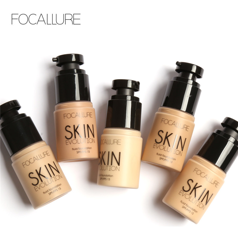 FOCALLURE Face Foundation Makeup Base Liquid Foundation BB Cream Concealer Whitening Moisturizer Oil-control Maquiagem SPF15(China (Mainland))