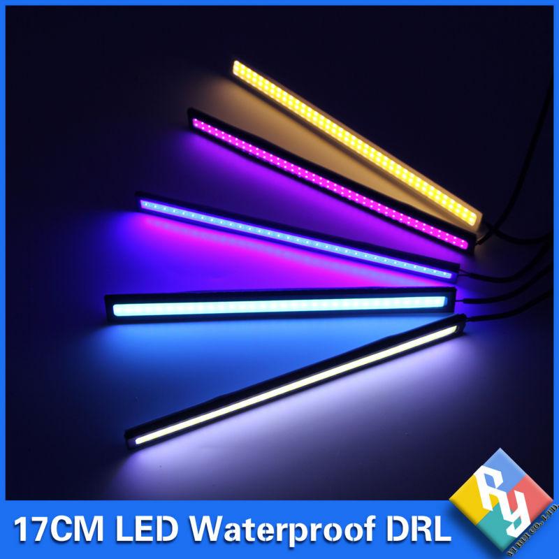 1Pcs 2016 update Ultra Bright LED Daytime Running lights DC 12V 17cm Waterproof Auto Car DRL COB Driving Fog lamp car styling(China (Mainland))