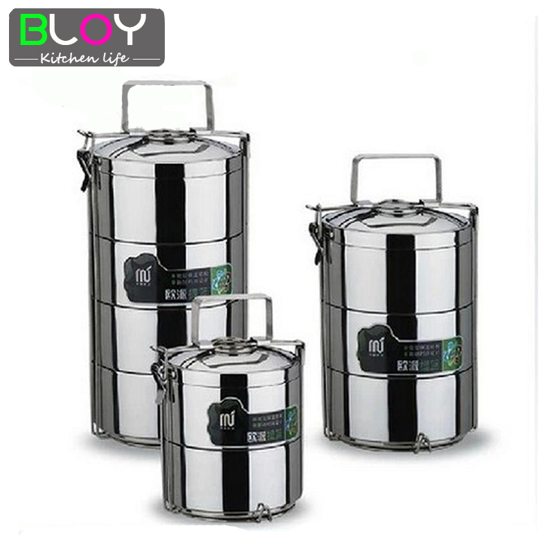 3 layer large 2 8l 1 pcs stainless steel lunch box dinnerware sets food container bento lunchbox. Black Bedroom Furniture Sets. Home Design Ideas