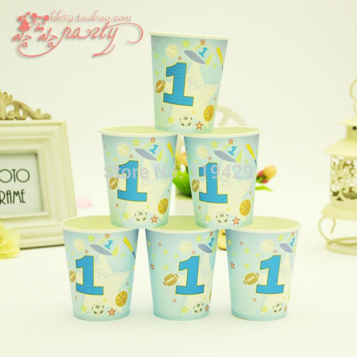 Luxury happy birthday party cup kid boy 1 year happy for 1 year birthday decoration