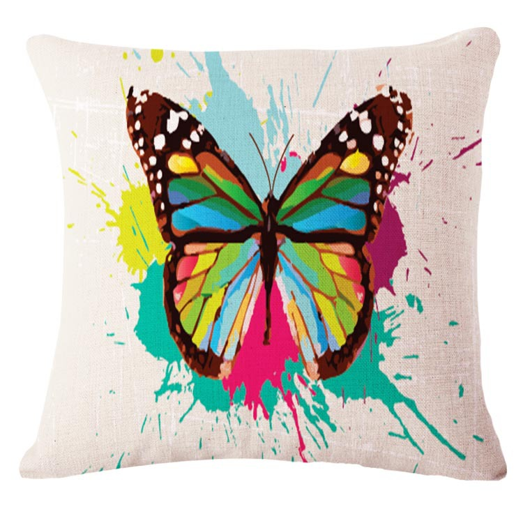 Europe 18x18 Colorful Butterfly Decorative Throw Pillows Kussens Home Decor Sofa Cushion Coussin ...
