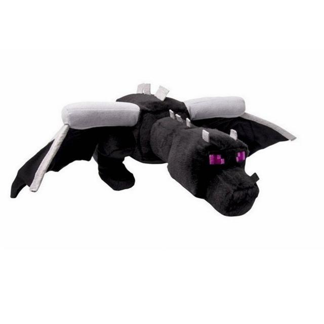 Большой Размер 60 см Minecraft Плюшевые Игрушки Черный Enderdragon Плюшевые Куклы Brinquedos Чучела Плюшевые Динозавров Игрушка в Подарок Бесплатная Доставка
