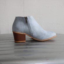 Kadın yarım çizmeler 2019 ilkbahar ve sonbahar kadın ayakkabı moda fermuar kare topuk kadın deri çizmeler botas de mujer(China)