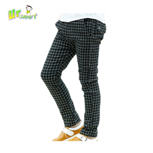 Boys Pants Children Trousers New 2014 Black & White Plaid kids Casual Pants All for children clothing and accessories(China (Mainland))
