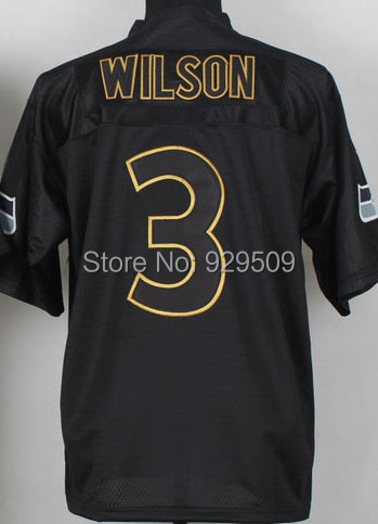 Newest Russell Wilson Fashion Jersey  Elite American Football Jersey Black Shipping