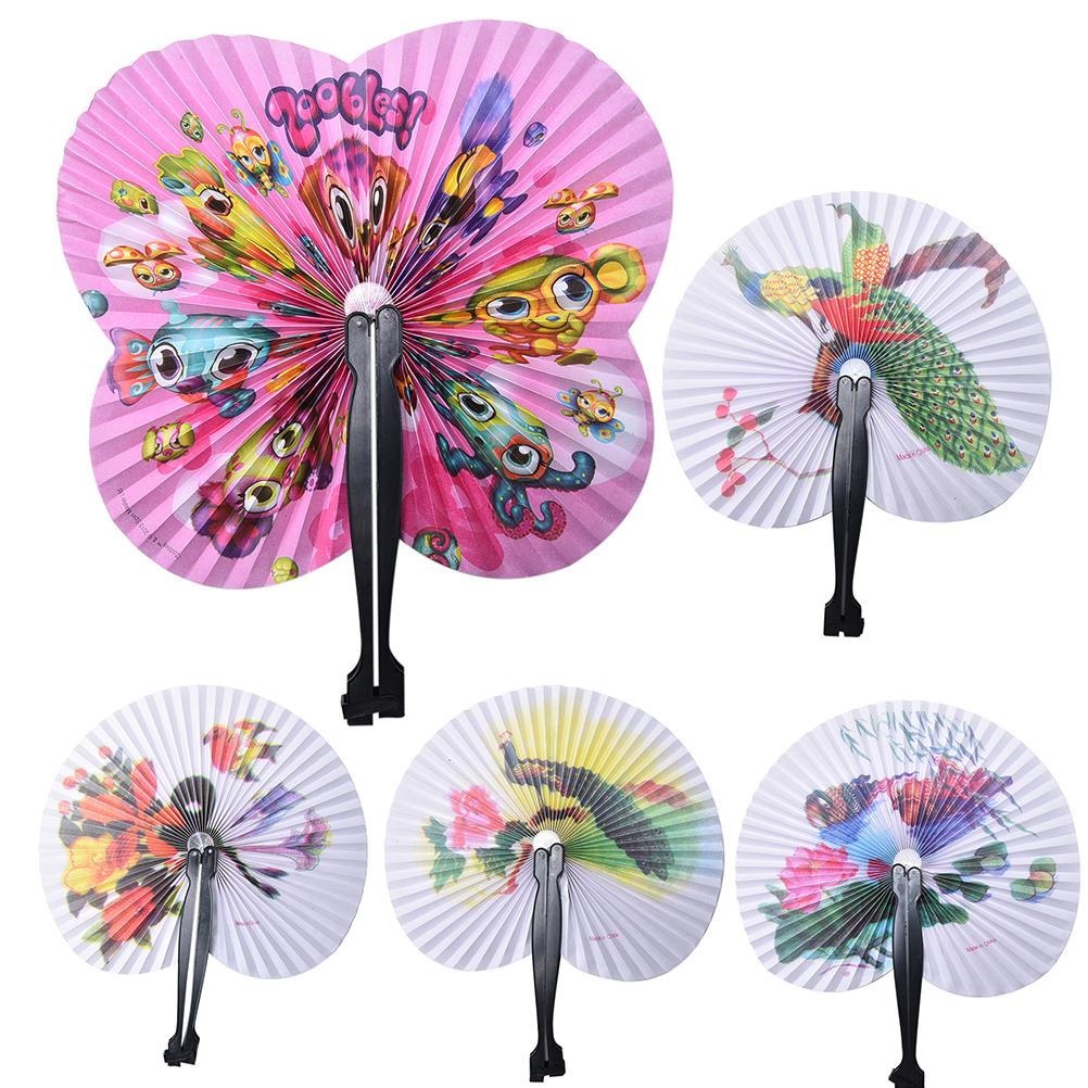 Vintage Ladies Paper Hand Fan Wedding Event Party Decoration Multi Pattern Paper Hand Fan(China (Mainland))