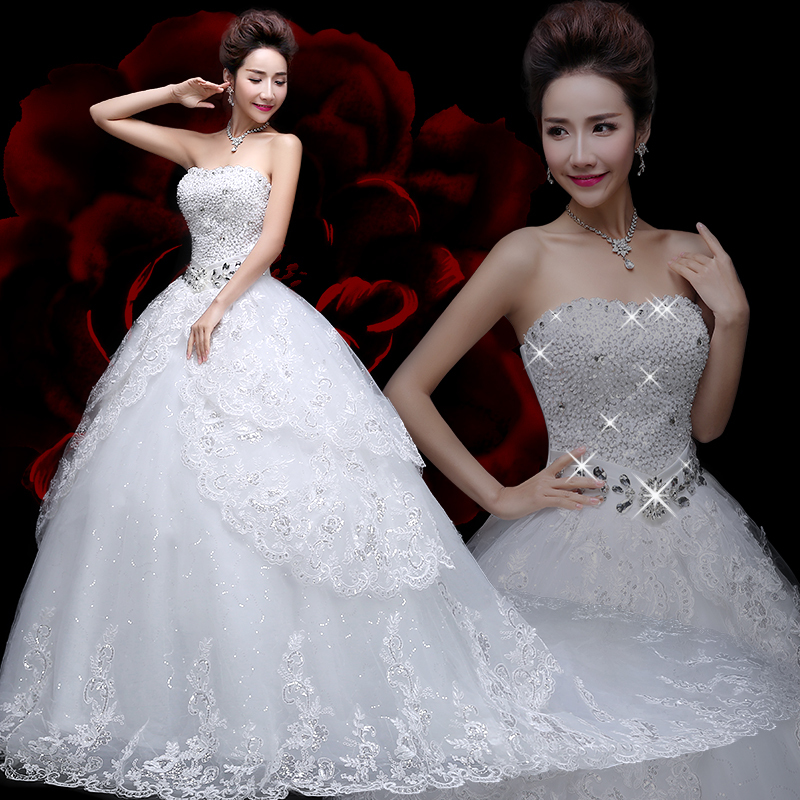 Buy 2016 ball wedding gowns lace wedding for Plus size bling wedding dresses
