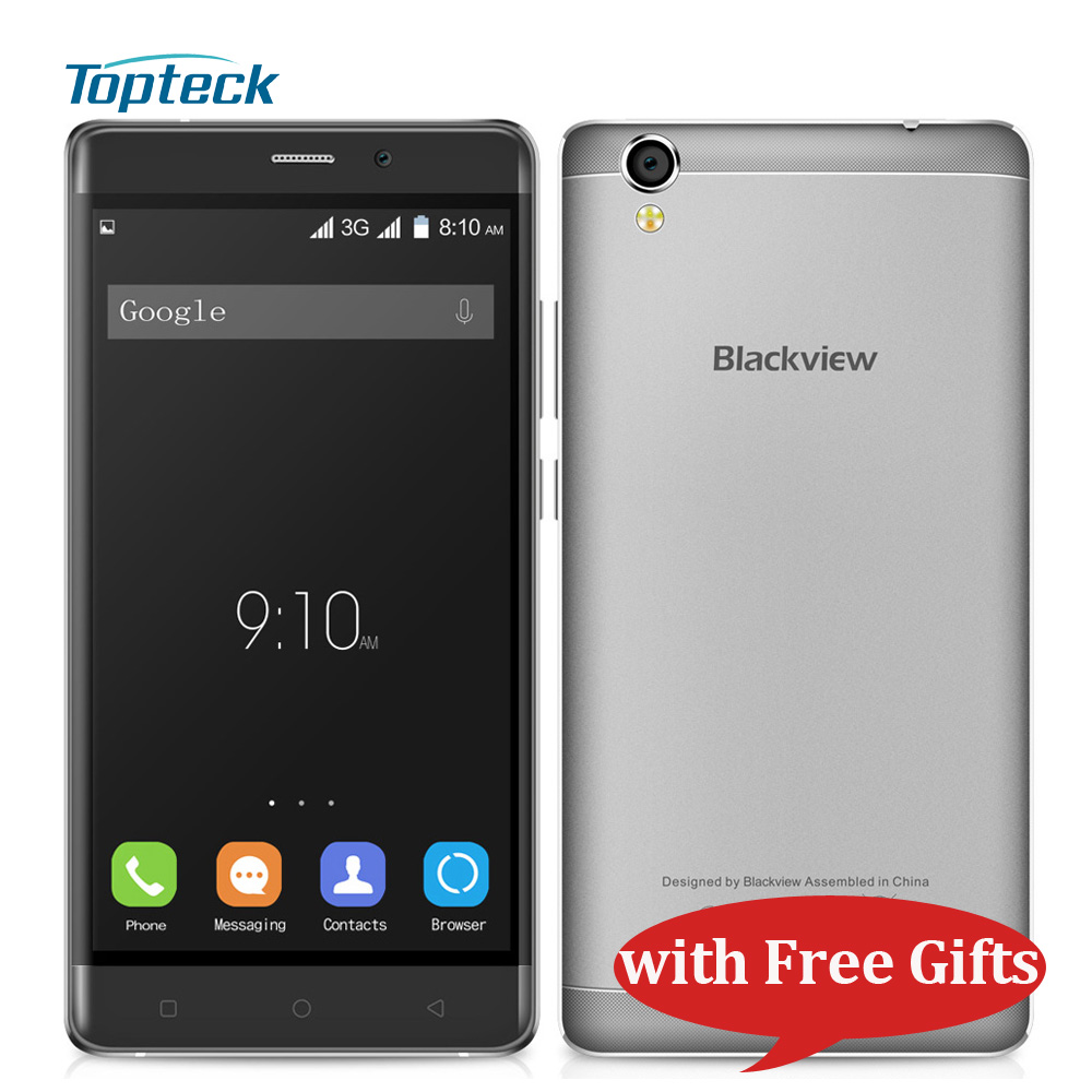 """Blackview A8 5.0"""" HD IPS Smartphone Android 5.1 Quad Core 1.3GHz MTK6580A 1GB+8GB 8MP Dual SIM 2000mAh 3G Mobile Phone with Gift(China (Mainland))"""