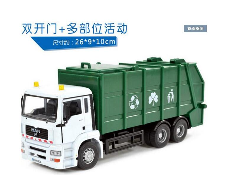 wholesale brand new large clean sanitation garbage truck toys car toy car transport truck model For Children Gifts Free Shipping(China (Mainland))