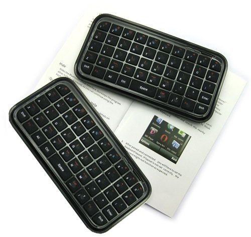 Most Popular! Freeshipping +Black Pocket Mini Wireless Keyboard with Soft Silicone Keys