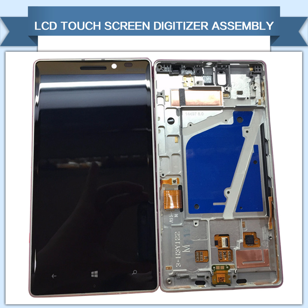Newest LCD Display and Touch Screen Digitizer Assembly With Frame For Nokia Lumia 930 Repair Replacement Parts Free Shipping(China (Mainland))
