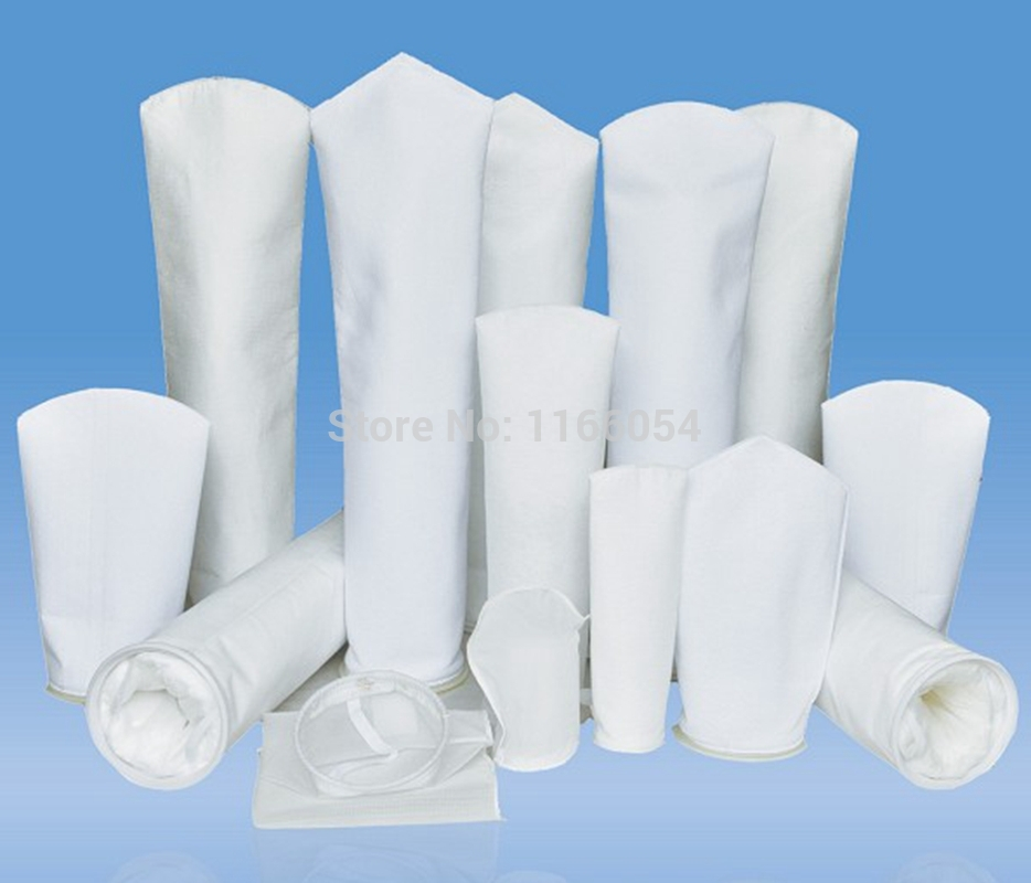 "180x420mm Industrial pocket Filter Sock Bags 1-200um micron mesh PP/PE 7""x17""(China (Mainland))"