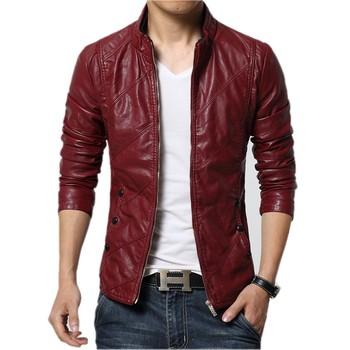 Jaqueta de couro masculino 2017 Новинка осени Мужская кожаная куртка качество искусственная кожа мотоциклетная куртка мода Slim Fit пальто мужские