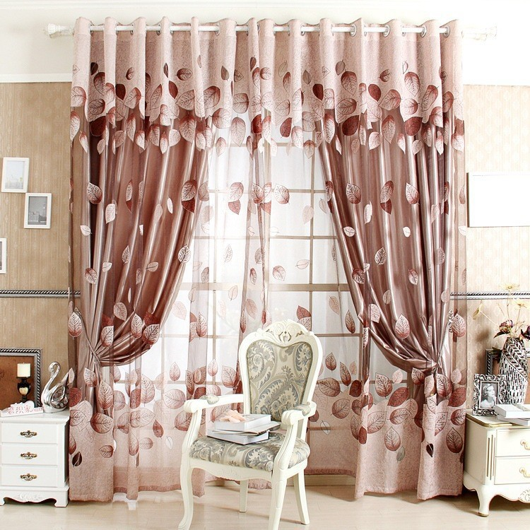 Window Curtains For Living Room 100 Blackout Curtain 150 250 Cm Curtain Patterns Leaves Made To
