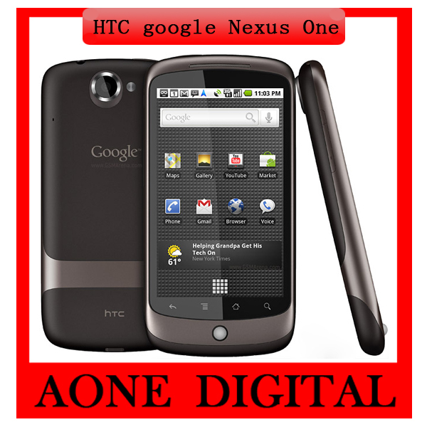 Original Refurbished HTC Google Nexus One 3g GPS Wifi 5MP 3.7 Inches Touchscreen Android PHONE G5(China (Mainland))