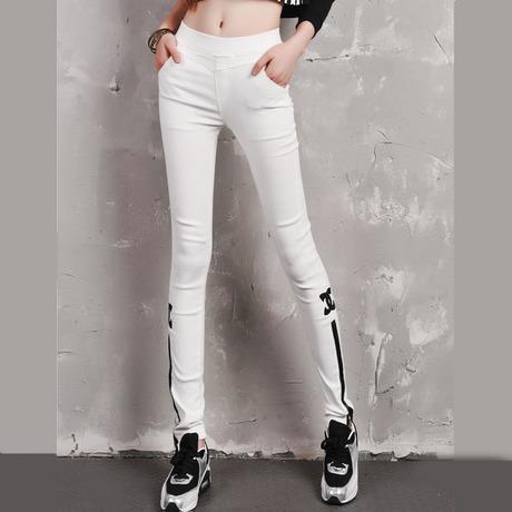 Amazing White Stretchy Faux Leather Stretchy Pants Style Clothing Pants E6 C
