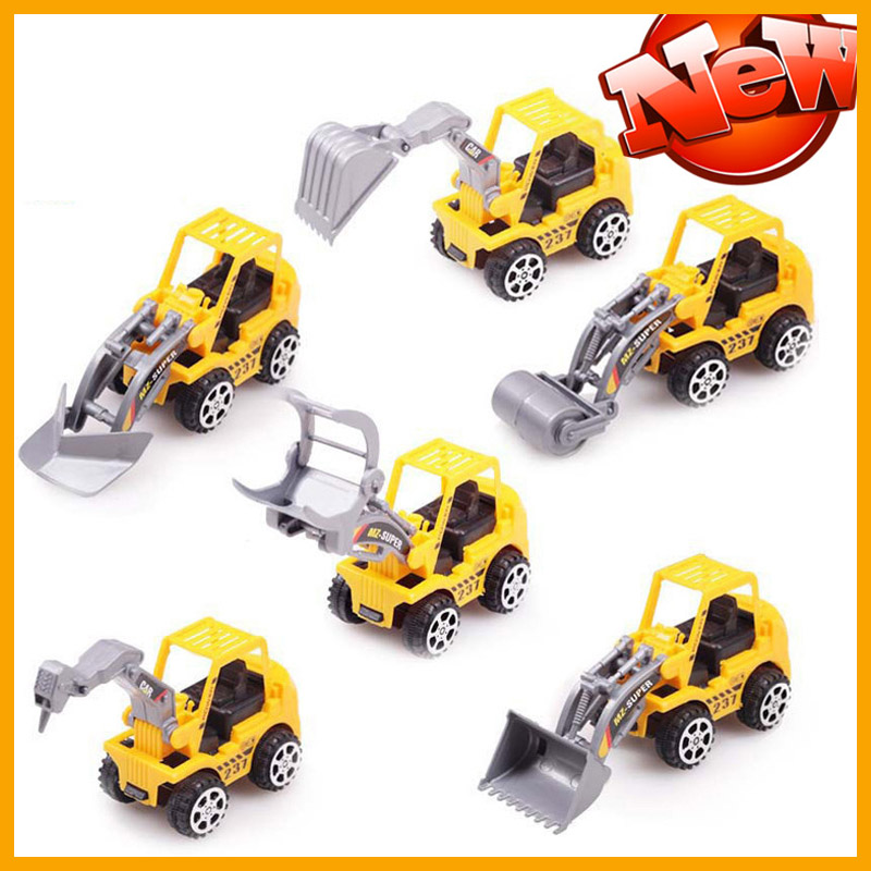 2016 New 6psc/set Mini Toy Car Plastic Cars Truck Model Diecast Scale kids car children Car Toys Gift Girls Boys free shipping(China (Mainland))