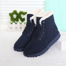 Mujeres calientes Botas de Invierno de la Marca de Invierno Zapatos de Las Mujeres Botas de Nieve Del Tobillo Botas Femininas Más El Tamaño 40 41(China (Mainland))
