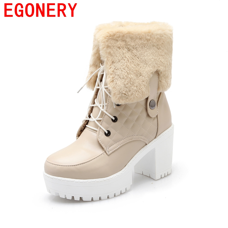 new arrival top quality soft pu leather ankle boots solid black beige white autumn winter boots shoes women ridding casual boots<br><br>Aliexpress
