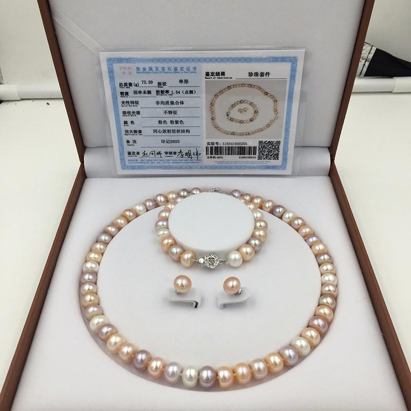Sinya natural freshwater pearls jewlery set  (13)