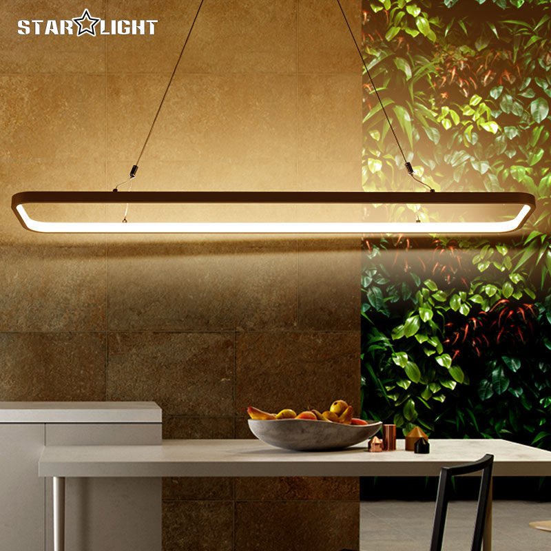 New modern pendant LED lights for office dinning living room restaurant kitchen lighting AC85-260V cord hanging pendant lamp(China (Mainland))