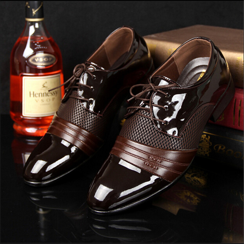 Hot Selling men's leather shoes fashion pointed toe men Pu leather shoes male Casual flats Oxfords shoes(China (Mainland))