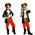 2016 New 3 Pcs Set kids pirate costume cosplay costumes set for kids halloween costumes children