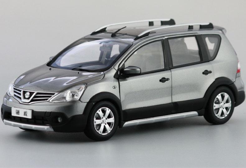 Silver 1/18 Nissan Livina 2013 Note Diecast Model Car Metal Cross SUV MPV Model Car Kits Model Building Vehicle(China (Mainland))