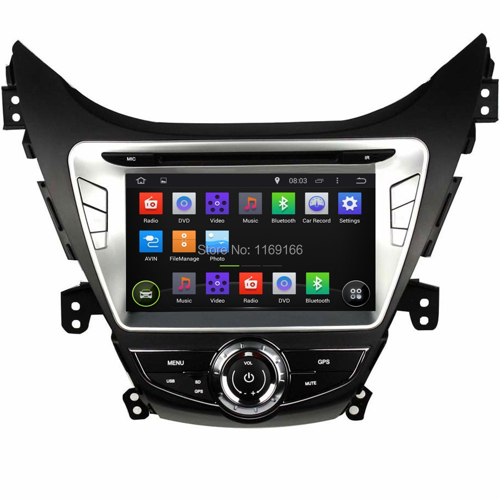 "HD 2 din 8"" Android 4.4 Car PC DVD Radio for HYUNDAI Avante / I35 2011-2013 With GPS Navigation 3G/WIFI Bluetooth IPOD TV AUX IN(China (Mainland))"