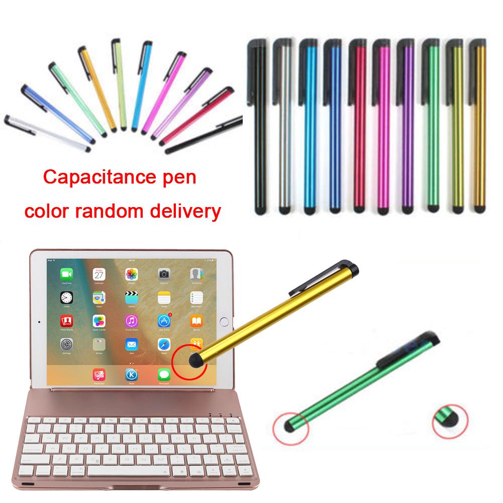 F8S Keyboard with LED 7 Colours Backlit Aluminium Wireless Bluetooth Keyboard Smart Folio Case for iPad Pro 9.7(China (Mainland))
