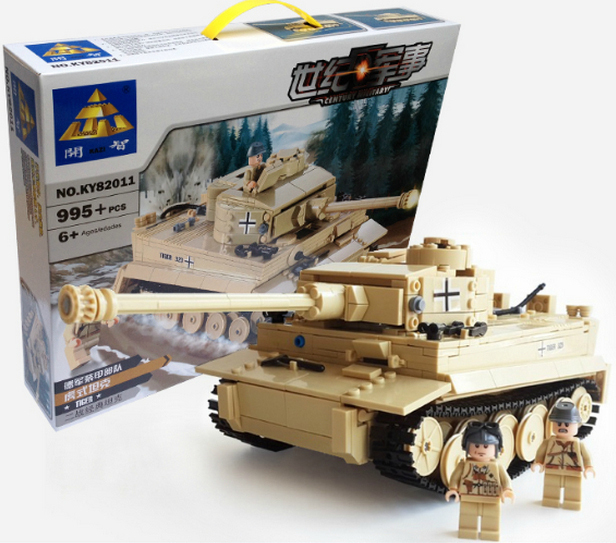 Model building kits compatible lego city Military Tiger Tank 3D blocks Educational toys hobbies children - JENS store