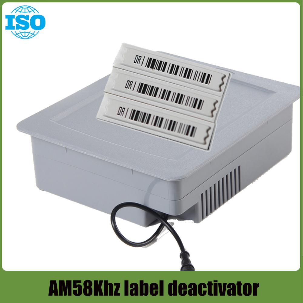 EAS AM DR Soft Label Deactivator 58Khz Tag Alarm Deactivator for Retail Anti theft System 1set(China (Mainland))